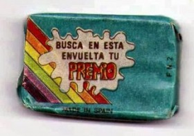 EL chicle Thunder. El chicle con premio… que cambiaba de color