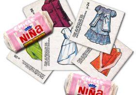 Recortables de vestiditos de chicle FIESTA